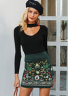 Avalynn Corduroy Embroidery Skirt