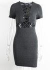 Anika Knitted Lace Up Sweater Dress