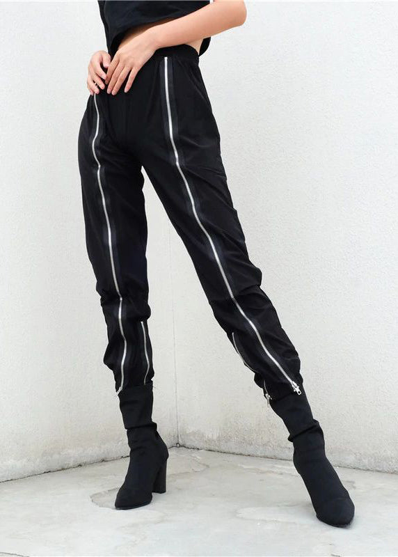 Black Zipper Hip Hop Sweatpant