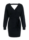 Giuliana Knitted V-Neck Sweater Dress
