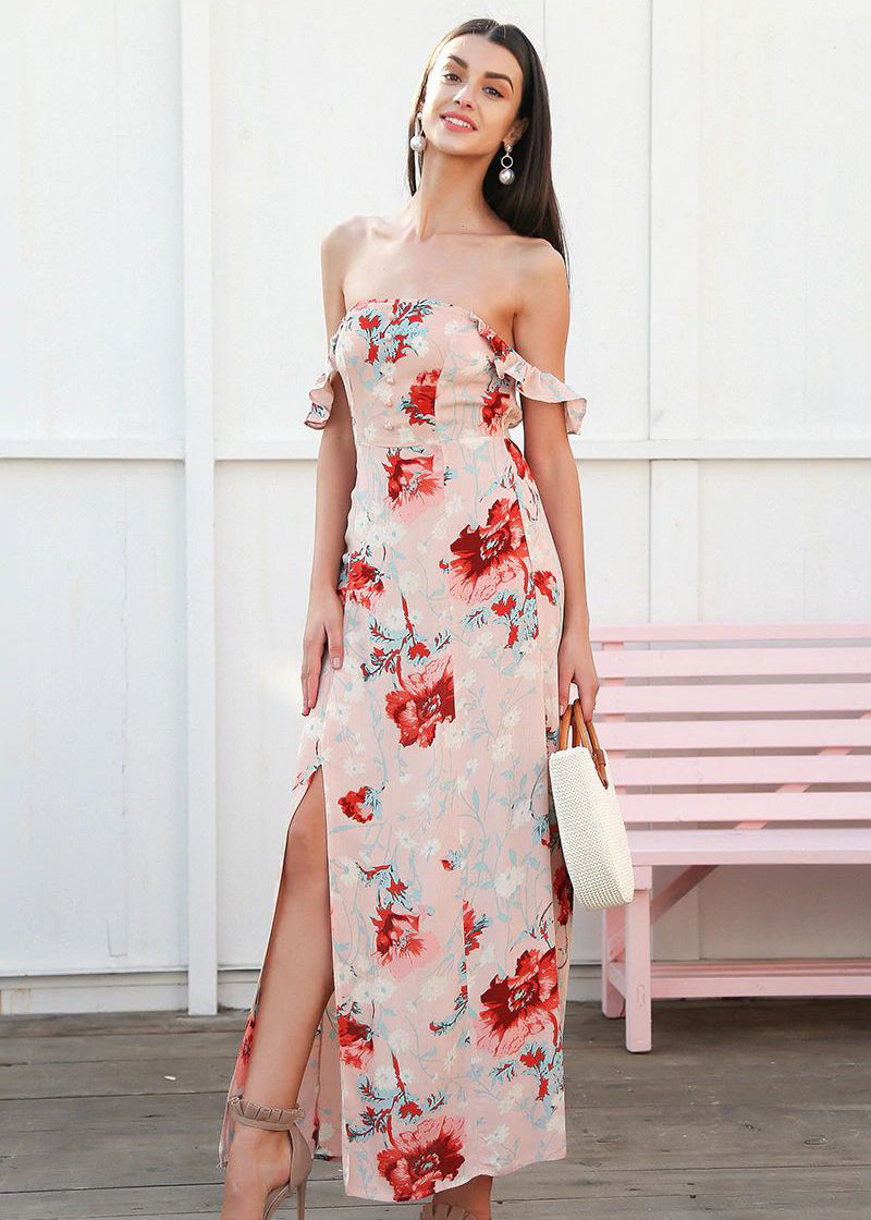 Matilda Off Shoulder Backless Maxi Long Dress