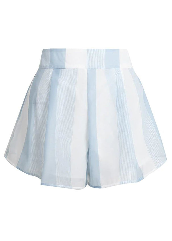 Annabel Blue Striped Print Skirt