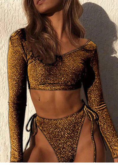 Ivana Long Sleeve Bodysuit Swimwear