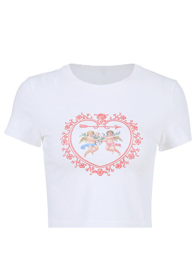 Heart Cupid And Angel Graphic T-Shirt