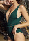 Danica Deep V-Neck One Piece Swimwear