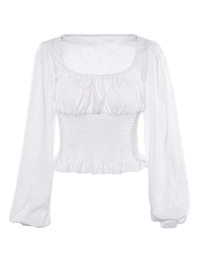 Carter Ruffle Long Sleeve Top