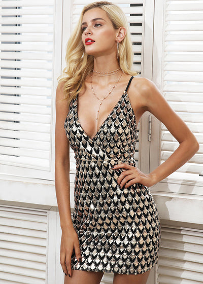 Priscilla Strap V-Neck Party Dress