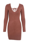 Coraline Knitting Elegant Sweater Dress
