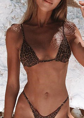 Aanya Leopard Two-Piece Print Swimwear