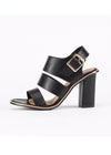 Gladiator Buckle Strap Chunky Heels Sandals
