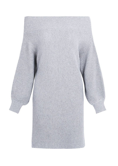 Elaine Knitted Off Shoulder Sweater Dress