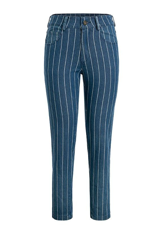 Greta Stripe Zipper Jeans