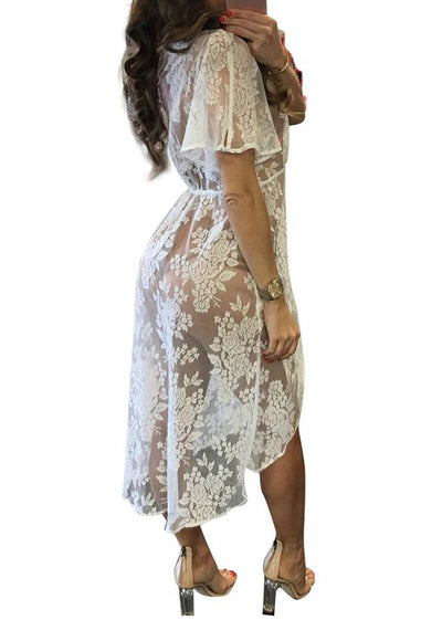 Jordyn  Short Sleeve Mesh Cover Up