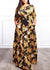 Finaa Print Maxi Long Dress