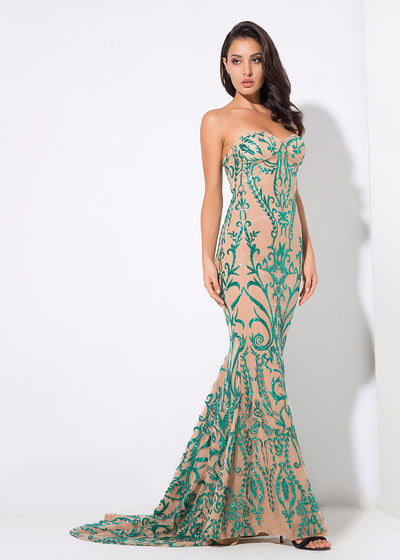 Symmetry Flower Maxi Dress