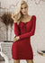 Madisyn Elegant Lace Up Sweater Dress