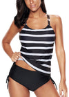 Evelyn Black Printed Tankini