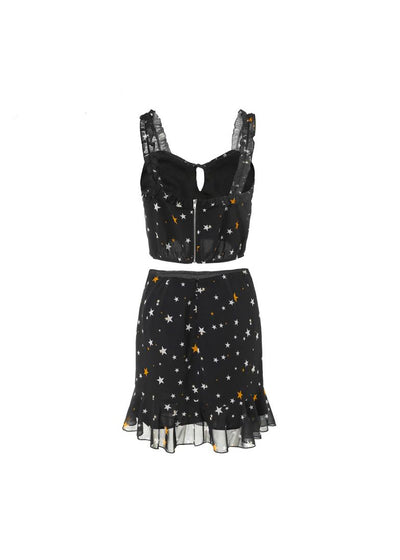 Jolene Strap V-Neck Pattern Dress
