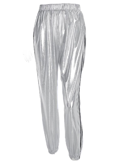 Silver Stripe Side Pencil Pant
