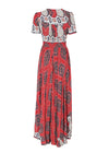 Mira Shirred Chic High Waist Long Dress