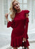 Jillian Ruffles O-Neck Sweater Dress