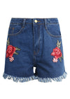 Amaris Tassel Flower Embroidery Jeans Skirt