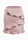 Nalani Elegant Ruffles Leather Skirt