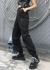 Black Pocket Patchwork Cargo Pant
