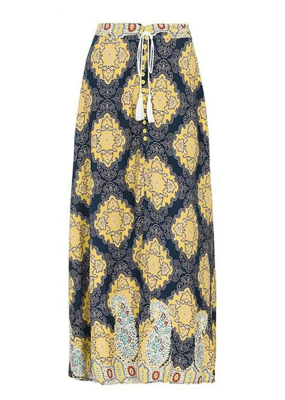 Tatiana Split Floral Print Long Skirt