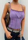 Purple Knitted Party Tank Top