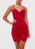 V-neck Wrap Backless Short Dress