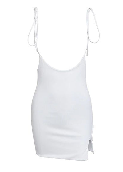 Strapped Side Split Bodycon Short Dress