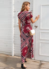 Adelynn V-neck wrap Long Dress