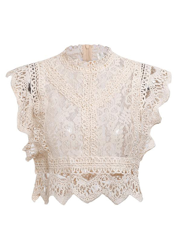 Zainab Hollow Out Ruffled Top