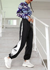 Side Patchwork Plus Size Sweatpant
