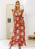 Allie Hollow Out Sash Tie-up Long Dress