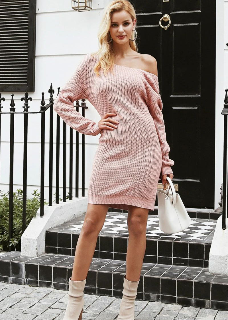 Haylee Knitted Off Shoulder Sweater Dress