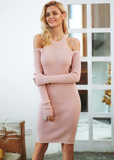 Addyson Off Shoulder Sweater Dress