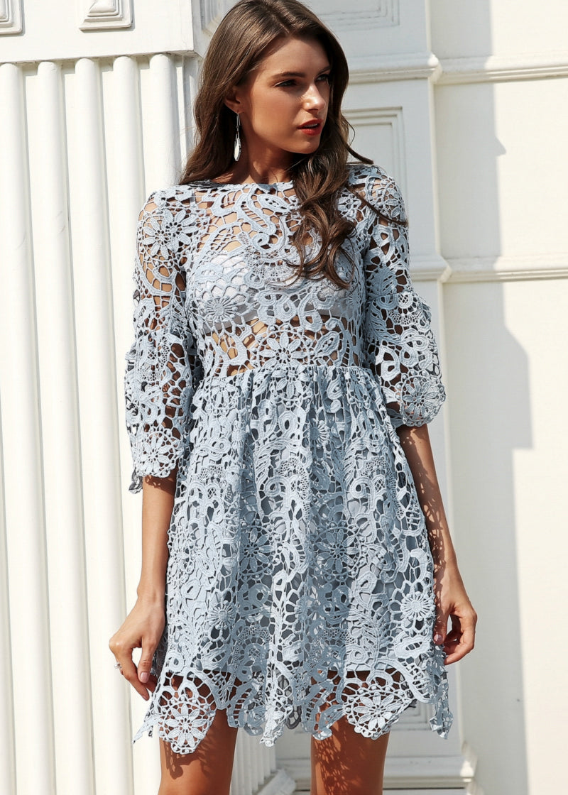 Emely Hollow Out Lace Dress