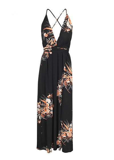 Catherine V-neck Backless Long Dress
