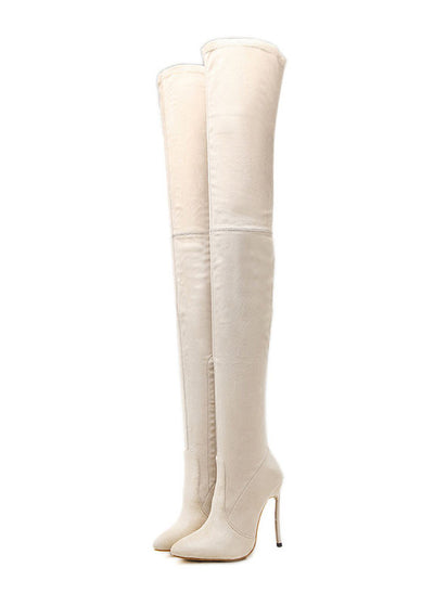 High Heeled Stilettos Over The Knee Boots