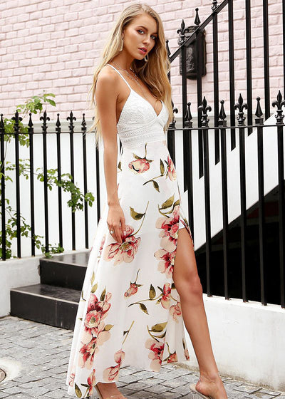 Lilah Strap Hollow Out Long Dress