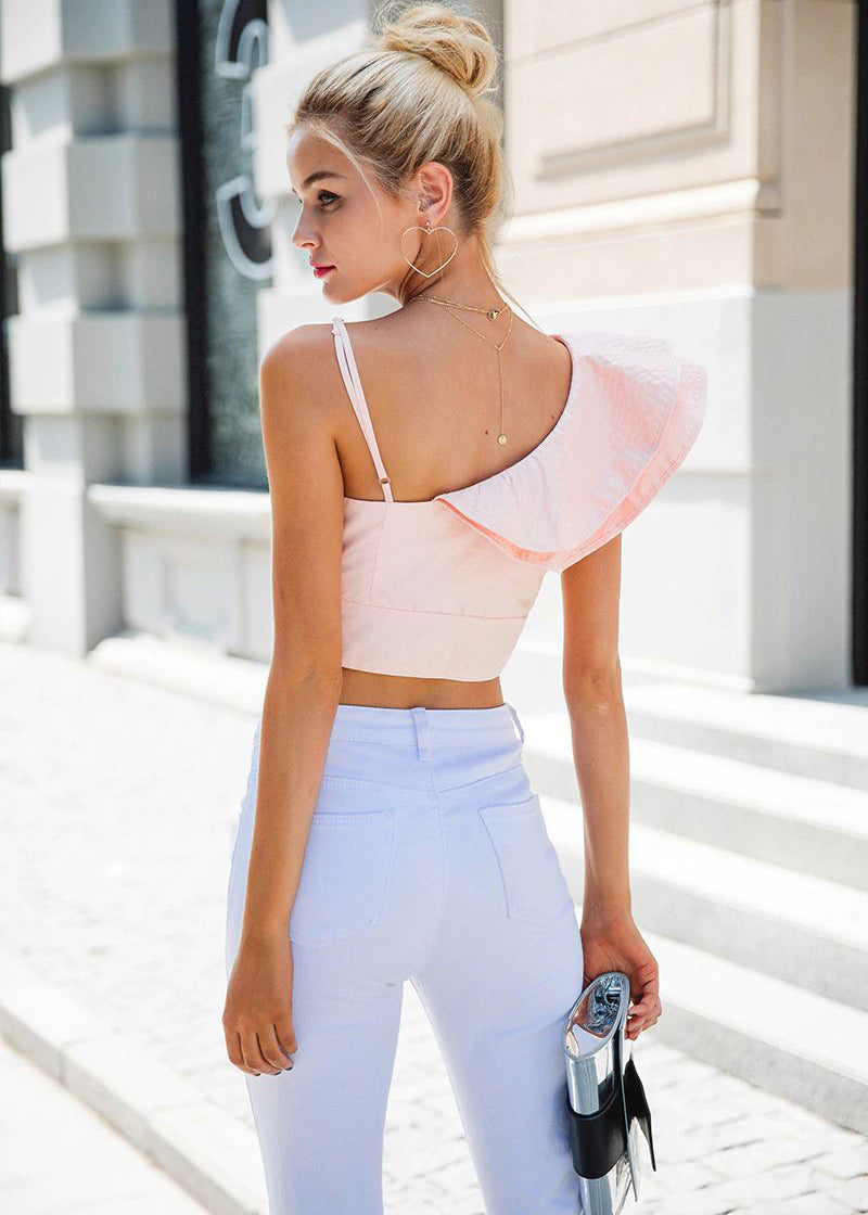 Davina One Shoulder Backless Top