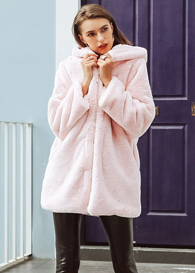 Braylee Elegant Hooded Outwear Coat