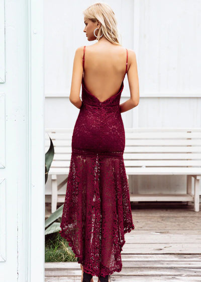 Ashlyn Hollow Out Backless Party Dress