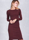 Adley Split Bodycon Sweater Dress