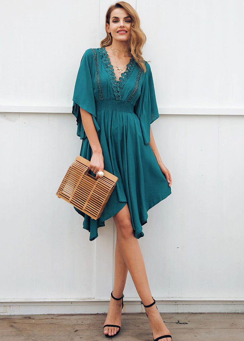 Dahlia  V-Neck Hollow Out Lace Dress