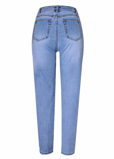 Street Blue Pearl Beaded Jeans