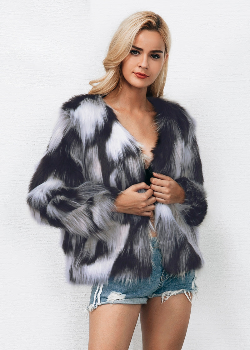 River Gray Blend Color Of Fur Fluffy Coat