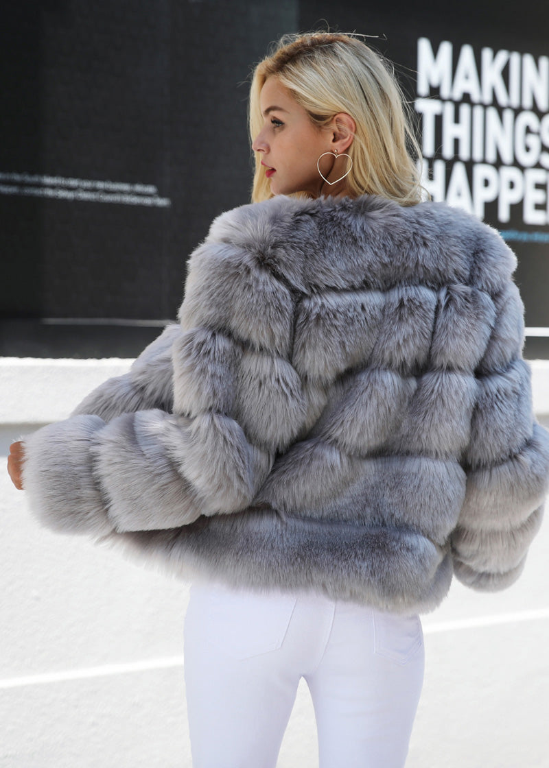 Laura Furry Fluffy Vintage Short Fur Coat
